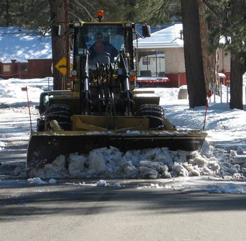 Road Clean Up Via Snow Plow