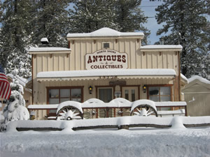 North Shore Antiques in the Snow