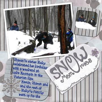Scrapbook Those Mountain Vacation Memories