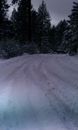 Fawnskin Snow Road