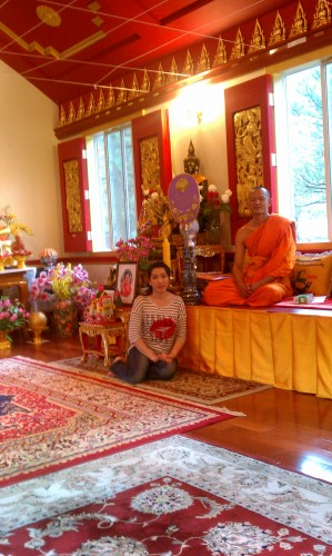 Ajahn Sombat with Visitor from Thailand