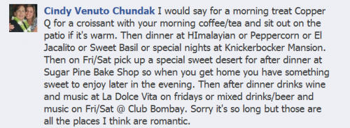 Cindy's Valentine's Day Recommendations