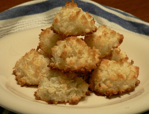 High Altitude Coconut Macaroons