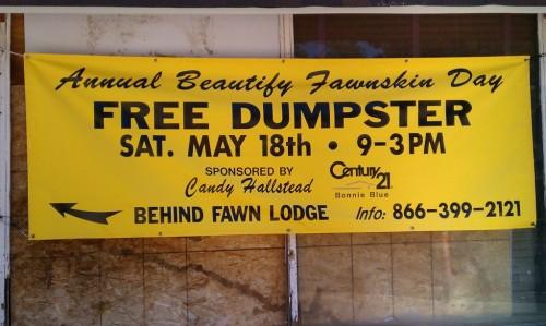 Dumpster Day Fawnskin