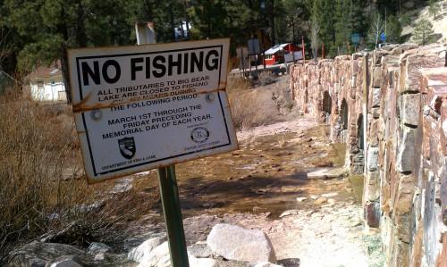 Grout Creek No Fishing