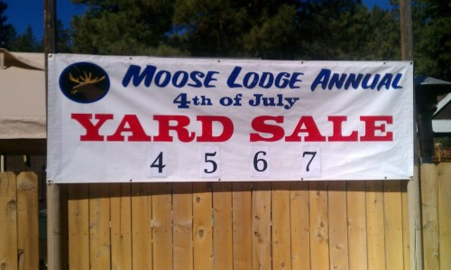 Moose Lodge 2085 Yard Sale
